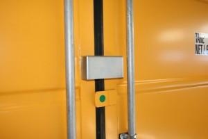 Protège cadenas conteneur d'entreposage jaune