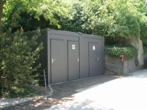 Conteneur toilettes avec PMR