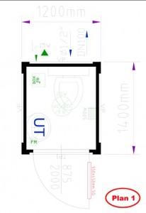plan bungalow wc