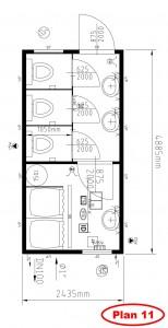 Plan-11- 3 WC et 2 douches