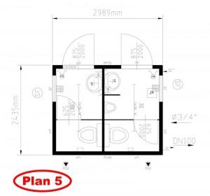 Plan 5 - 1 WC H 1 WC F