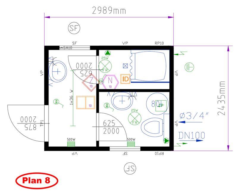 Plan De Douche Et Toilette Maison Design Sphena Com